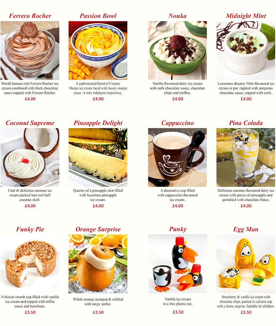 Dessert Food List
